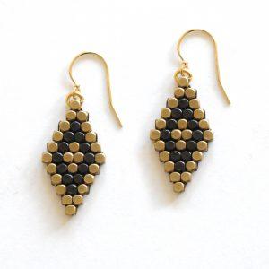 Brass & Ox diamond earrings