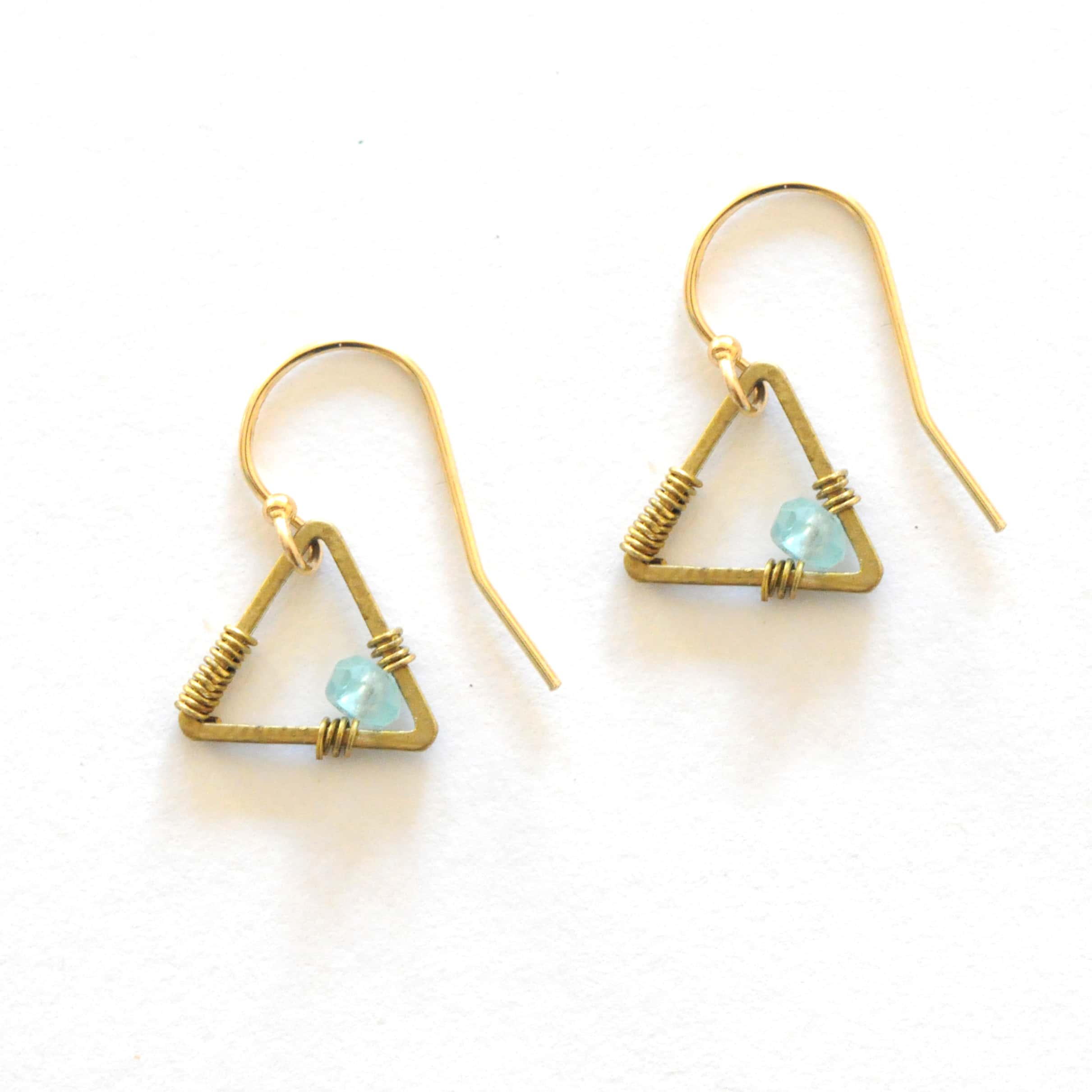 cluster earrings wire blue by apatite gold earring filled aqua felisajewelry pin