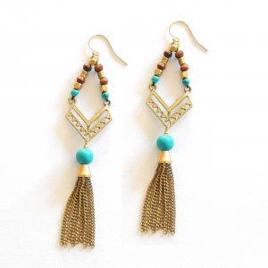 Bohemian Turquoise Earrings